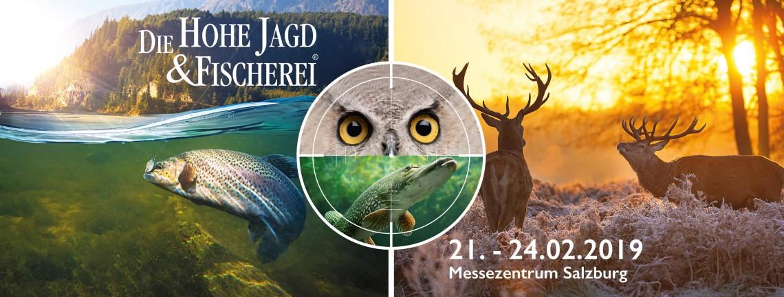 21. bis 24. Februar 2019, Die Hohe Jagd & Fischerei, Messezentrum Salzburg