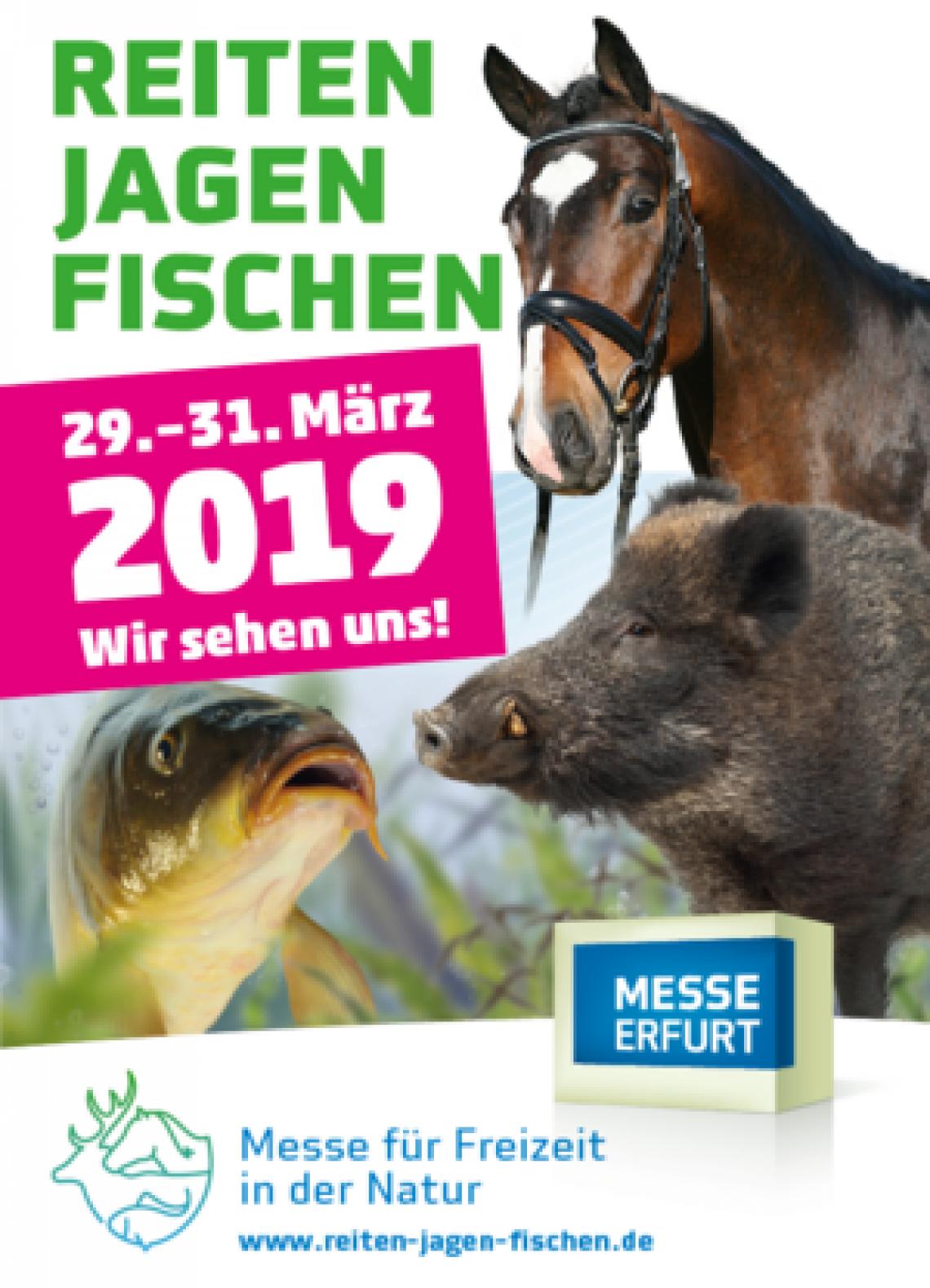 29. - 31. März 2019, Reiten-Jagen-Fischen Erfurt,