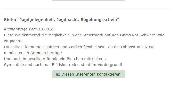 In der Steiermark gibt es scheinbar keine Jäger mehr - oder: Wer in NRW sonst nichts zu tun hat.