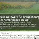 """Neues Netzwerk für Brandenburg zum Kampf gegen die ASP 16. August 2021Mit dem """"Jagdportal Brandenburg"""" stellt der LJVB ein einzigartiges Online-Tool zur Verfügung, um gezielte jagdliche Maßnahmen im Kampf gegen die Afrikanische Schweinepest zu organisieren und zu koordinieren.Die Jägerinnen und Jäger in Brandenburg stehen derzeit vor großen Herausforderungen. Die Koordination und vor allem die Zusammenarbeit sind gefragt wie noch nie. Die Ausbreitung der Afrikanischen Schweinepest (ASP) in Brandenburg scheint unaufhaltsam. Umso wichtiger ist es, dass alle zur Verfügung stehenden Mittel genutzt werden, um die ASP einzudämmen. Für eine bessere, schnellere, interaktive und moderne Kommunikation geht der Landesjagdverband Brandenburg (LJVB) neue Wege und hat jetzt das Online-Portal www.jagen-ljv-brandenburg.de freigeschaltet.https://jagen-ljv-brandenburg.de/2021/08/16/neues-netzwerk-fuer-brandenburg-zum-kampf-gegen-die-asp-2/"""