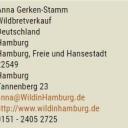 Neuer Eintrag in der Wildbretdatenbank:Wild in Hamburghttps://www.deutsches-jagdportal.de/hunting_db/mapanbitener/index.php?view=results&page=Hamburg,%2520Freie%2520und%2520Hansestadt&country=Deutschland&listing_type=bite&Provajder=38,&county=Hamburg,%2520Freie%2520und%2520Hansestadt