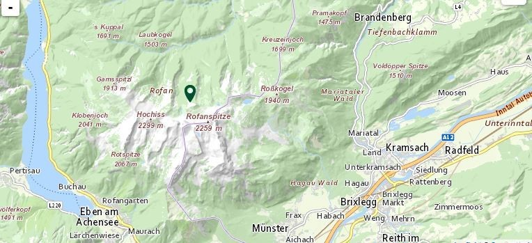 Jagdverpachtung Tirol, Bezirk KitzbühlWunderschönes Gamsrevier in Steinberg am Rofan. Das Revier erstreckt sich von der Baumgrenze auf etwa 1400 m bis hinauf zur Rofanspitze auf 2259 m. Schattseitg, daher optimaler Sommerlebensraum für Gamswild. Abschuss: 13 Stück Gamswild (2 Böcke Klasse I, 3 Geißen Klasse I, 1 Bock Klasse II, 2 Geißen Klasse II, 1 Geiß Klasse III, 1 Jahrling, 3 Kitze), 2 Murmeltierehttps://www.deutsches-jagdportal.de/hunting_db/mapanbitener/index.php?view=region&page=Tirol&listing_type=bite&Provajder=1,3,2,&country=%25C3%2596sterreich